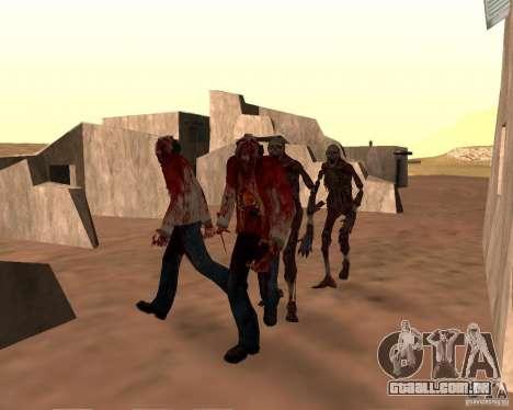 Zombie Half life 2 para GTA San Andreas sexta tela