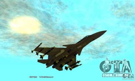 Su-37 Terminator para GTA San Andreas vista inferior