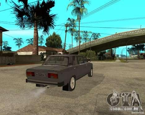 Limousine de 2105 VAZ para GTA San Andreas traseira esquerda vista