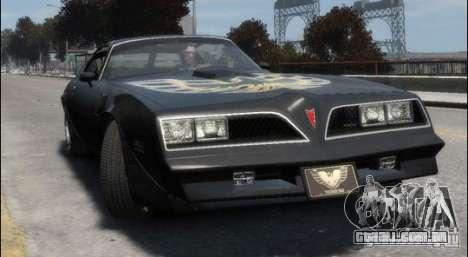 Pontiac Trans Am 1977 para GTA 4 esquerda vista
