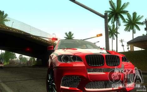 Bmw X6 M Lumma Tuning para GTA San Andreas vista traseira