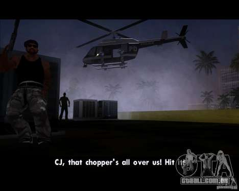 GTA IV Police Helicopter para GTA San Andreas vista direita