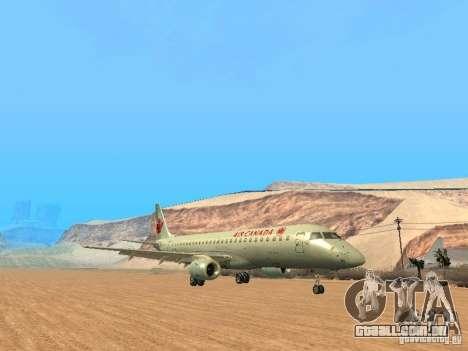 Embraer ERJ 190 Air Canada para GTA San Andreas traseira esquerda vista