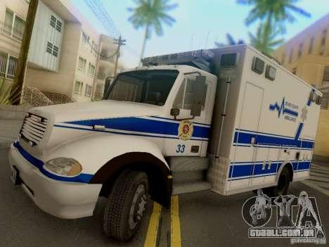 Freightliner Bone County Police Fire Medical para GTA San Andreas traseira esquerda vista