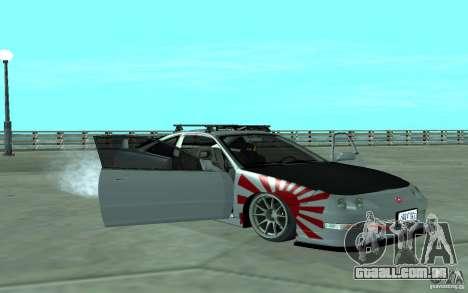Acura Integra Type-R para vista lateral GTA San Andreas