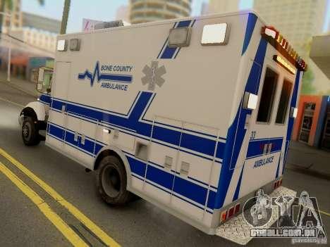 Freightliner Bone County Police Fire Medical para GTA San Andreas vista direita