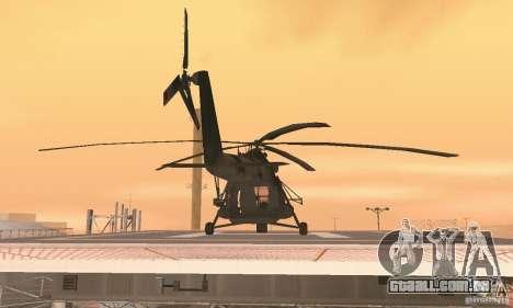 MI-17 para GTA San Andreas vista interior