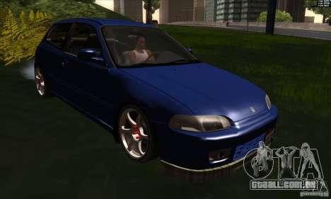 Honda Civic EG5 para GTA San Andreas vista traseira