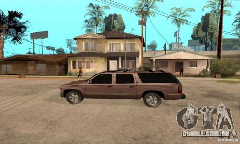 Chevrolet Suburban para GTA San Andreas traseira esquerda vista