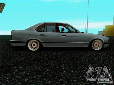 BMW 5 series E34 para GTA San Andreas esquerda vista