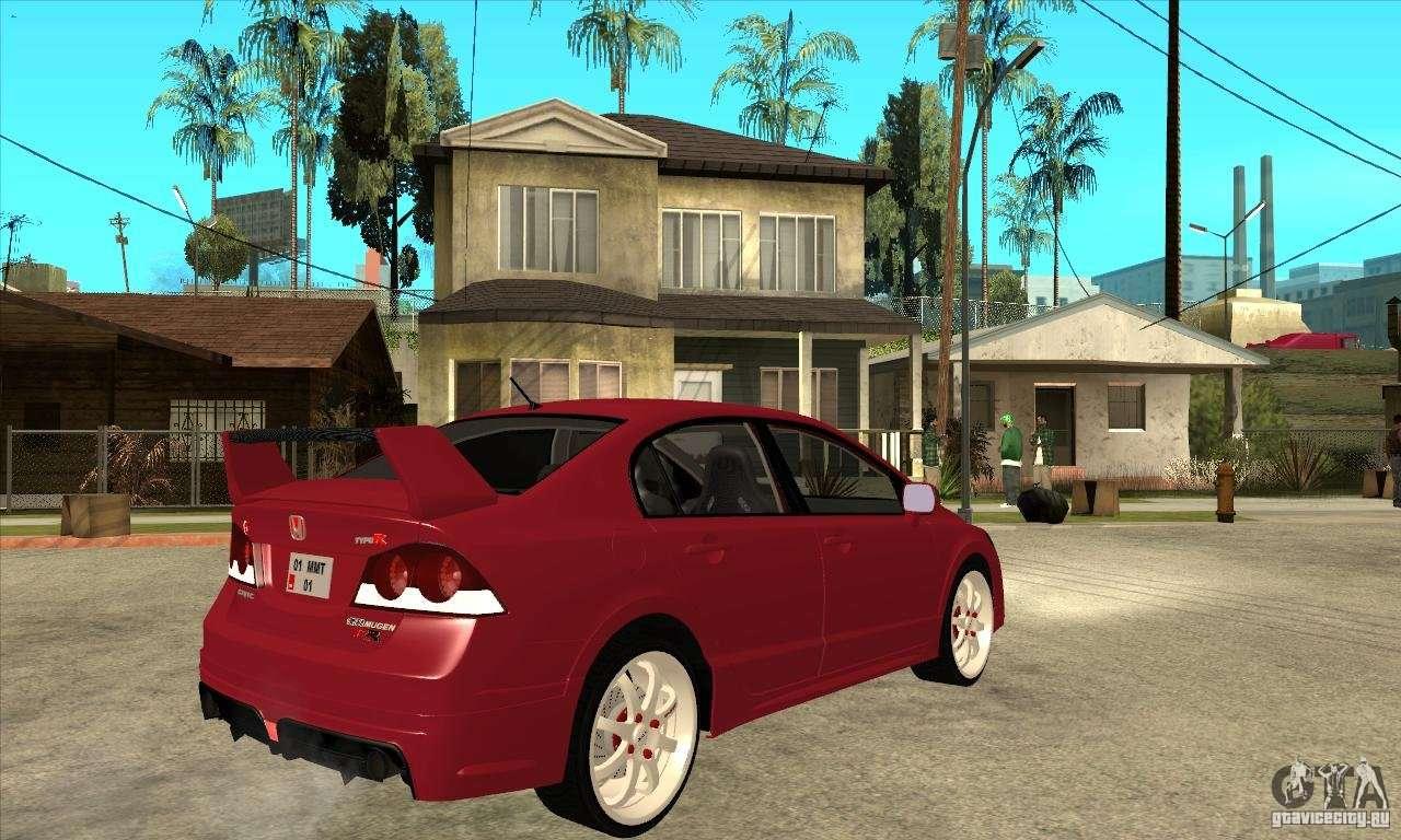 Honda Civic Mugen RR Para GTA San Andreas Vista Direita