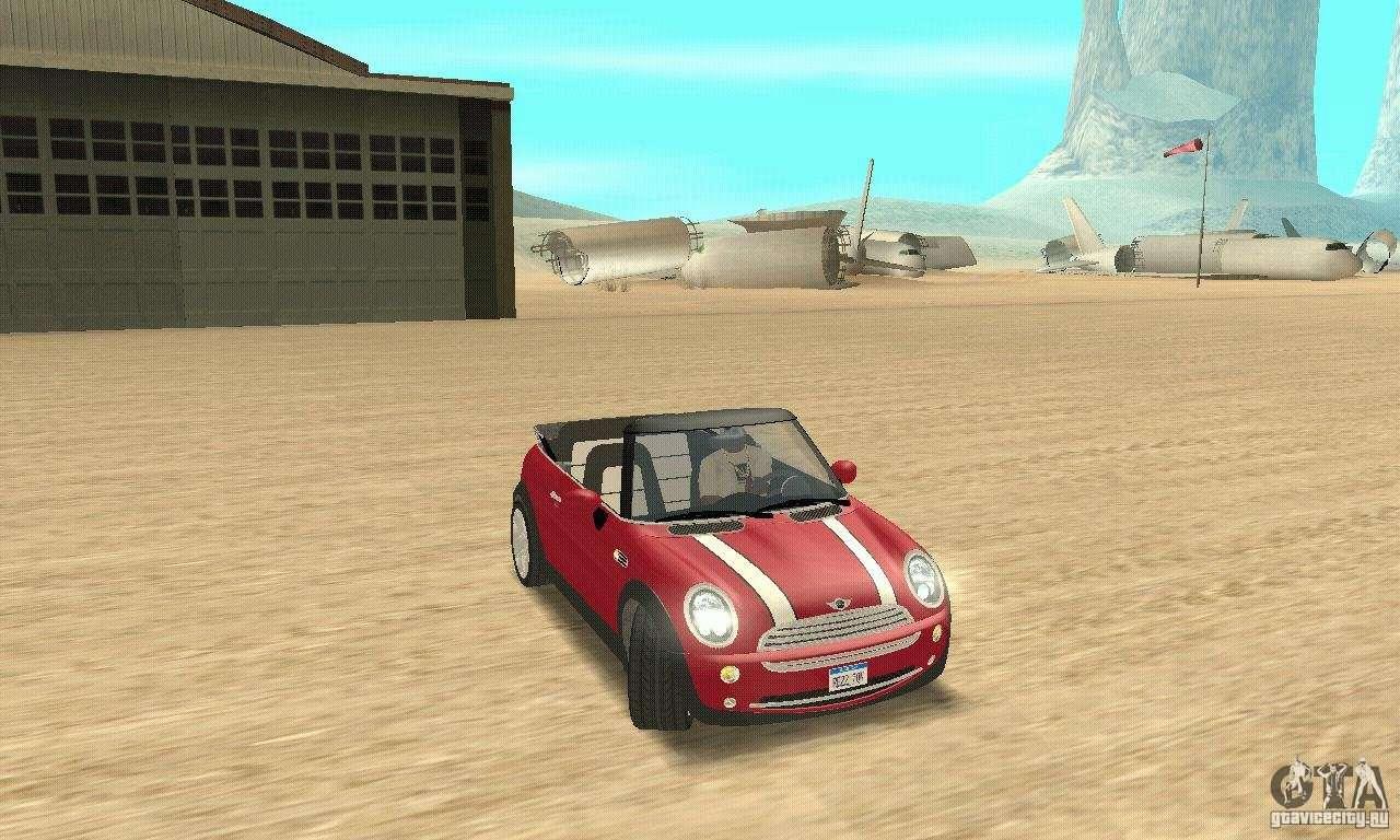 Mini Cooper Convertible Para Gta San Andreas