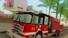 Pierce Tower Ladder 54 Chicago Fire Department para GTA San Andreas