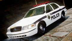 Ford Crown Victoria 2003 FBI Police V2.0 [ELS] para GTA 4