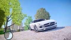 A Mercedes-Benz SLS63 AMG белый para GTA 4