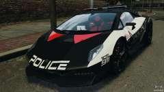 Lamborghini Sesto Elemento 2011 Police v1.0 RIV