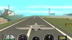 Instrumentos de ar em um avião