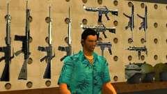 Tommy Vercetti no AMMU-NATION para GTA San Andreas