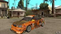 Subaru Impreza D1 WRX Yukes Team Orange