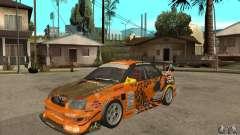 Subaru Impreza D1 WRX Yukes Team Orange