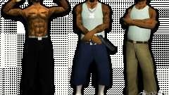 Bandas de peles HQ para GTA San Andreas