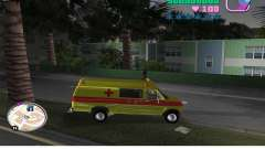 Ford Econoline E350 Ambulance para GTA Vice City