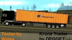 Krone Trailer Hapag-LLoyd para GTA San Andreas