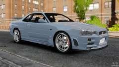 Nissan Skyline GT-R R34 Fast and Furious 4 para GTA 4