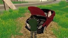 CLEO mod: CJ pode reparar o carro