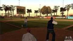 Campo de beisebol animado