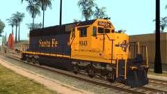 Locomotiva SD 40 Santa Fe azul/amarelo