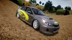 Subaru Impreza WRX STi 2011 Subaru World Rally para GTA 4