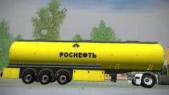 Reboque para Mercedes-Benz Actros Rosneft para GTA San Andreas