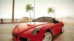 Alfa Romeo 8C Spider para GTA San Andreas
