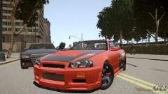 Nissan Skyline GT-R R34 Underground Style para GTA 4