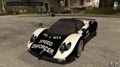 Pagani Zonda F Speed Enforcer BETA para GTA San Andreas