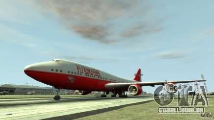 Fly Kingfisher Airplanes with logo para GTA 4