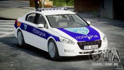 Peugeot 508 Macedonian Police [ELS] para GTA 4