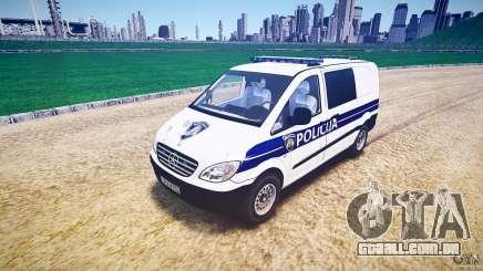 Mercedes Benz Viano Croatian police [ELS] para GTA 4