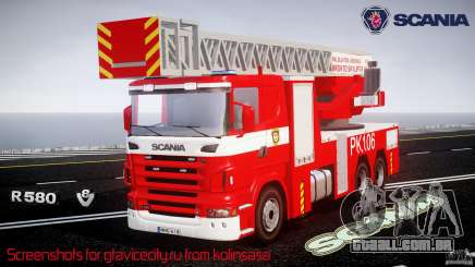 Scania R580 Fire ladder PK106 [ELS] para GTA 4