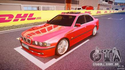 BMW 530I E39 stock chrome wheels para GTA 4