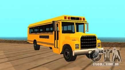 School bus para GTA San Andreas