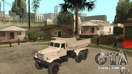 Caminhão de descarga KRAZ 225 para GTA San Andreas