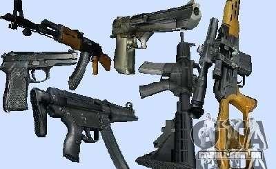 Max Payne 2 Weapons Pack v1 para GTA Vice City