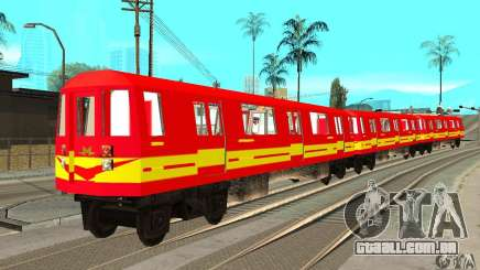 Liberty City Train Red Metro para GTA San Andreas