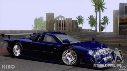 Mercedes-Benz CLK GTR Road Carbon Spoiler para GTA San Andreas