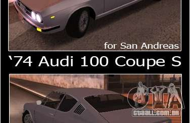 Audi 100 Coupe S 1974 para GTA San Andreas