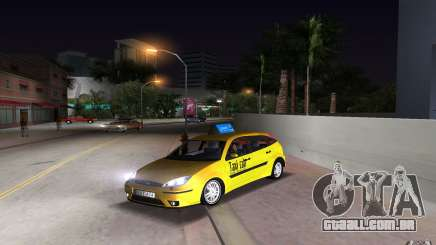 Ford Focus TAXI cab para GTA Vice City