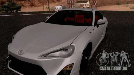 Toyota 86 TRDPerformanceLine 2012 para GTA San Andreas