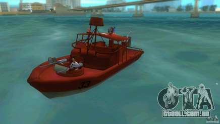 Rio do barco de patrulha Mark 2 (Player_At_Guns) para GTA Vice City